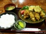 【丸や】蕎麦屋のカキフライ定食